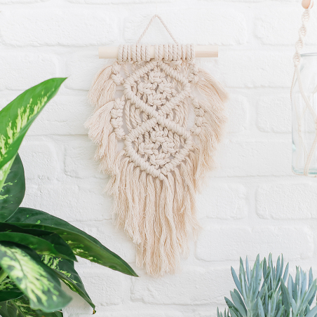 Ready-to-create macramé wall hanging kit - Oasis