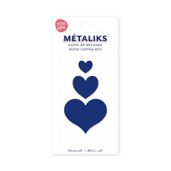 Dies métaliks - Mini coeurs
