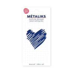 Dies métaliks - Coeur signé main