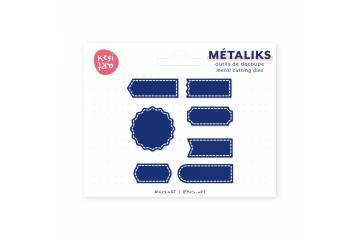 Dies métaliks - Étiquettes cousues