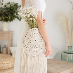 Crochet bohemian bag kit -...