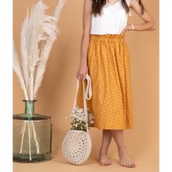 Sewing paperbag skirt - Dakota