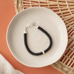Kit bracelet argent et noir...