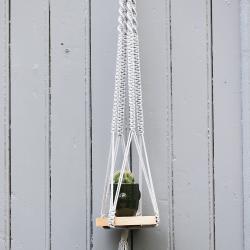 Macramé hang plant with...