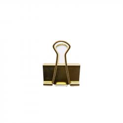 Pince double clip dorée