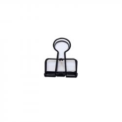 Pince double clip évidée noire