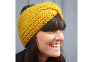 Headband tricot en côtes 1/1 Achille