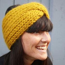 Alpaca headband knitting pattern - Achille