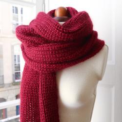Shaker rib stitch scarf...
