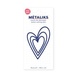 Dies métaliks - Coeurs 1 imbriqués