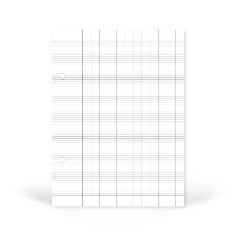 Recharge de notes pour classeur - Essentiels