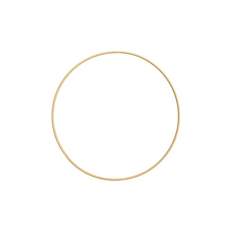 Anneau en métal doré pour macramé - 15 cm