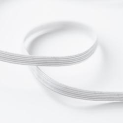 Élastique plat tressé blanc 5 mm