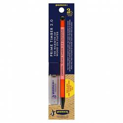 Orange pink wooden pencil