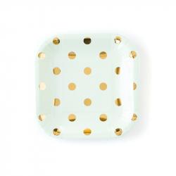 12 square cardboard plates...