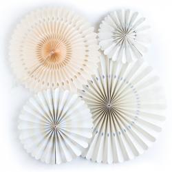 4 fanions décoratifs - Ivoire