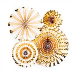 4 fanions décoratifs - Or