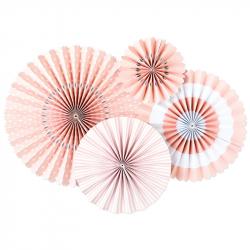 4 decorative pennants - Pink