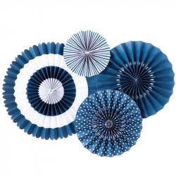 4 fanions décoratifs - Bleu...
