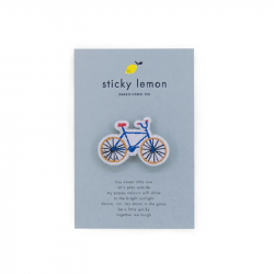 Embroidered pin - Bicycle