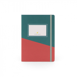 Notebook with green and...