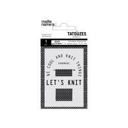 Tatouze éphémère - Let's knit