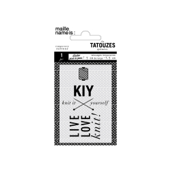 Temporary knit tattoo - KIY