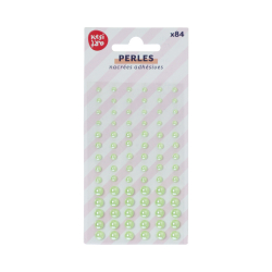 Set of 84 adhesive pearls -...