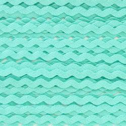 Zigzag ribbon 4mm - Mint x 1m