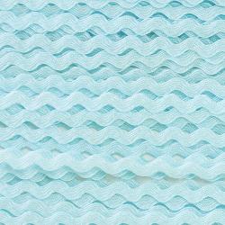 Ruban zigzag 4 mm - Bleu...
