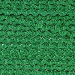 Zigzag ribbon 4mm - Green x 1m