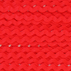 Ruban zigzag 4 mm - Rouge x...
