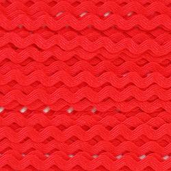 Zigzag ribbon 4mm - Red x 1m