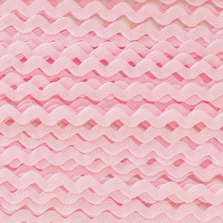 Ruban zigzag 4 mm - Rose...