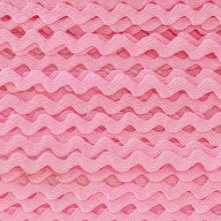 Zigzag ribbon 4mm - Pink x 1m