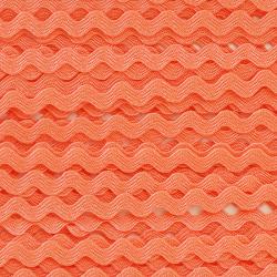 Zigzag ribbon 4mm - Coral x 1m