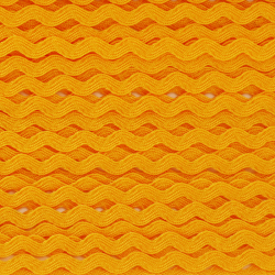 Zigzag ribbon 4mm - Yellow...