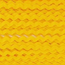 Ruban zigzag 4 mm - Jaune x...