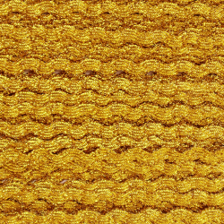 Zigzag ribbon 4mm - Gold x 1m