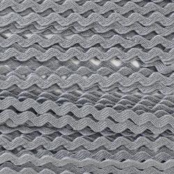 Zigzag ribbon 4mm - Gray x 1m