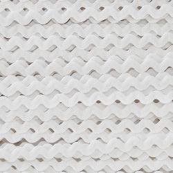 Zigzag ribbon 4mm - White x 1m