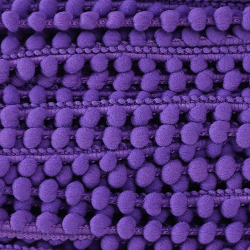 Galon pompon 10 mm - Violet...