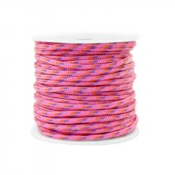 Braided cord 2 mm - Pink x 1 m