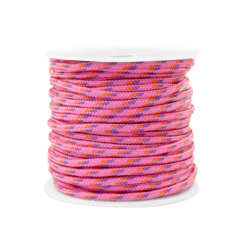 Cordon tressé 2 mm - Rose x...