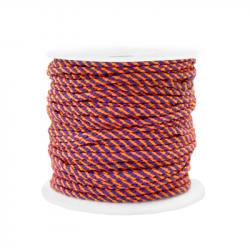Braided cord 2 mm - Purple...