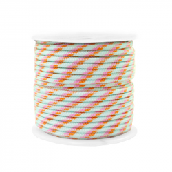 Braided cord 2 mm - Mint x 1 m