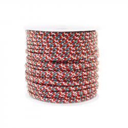 Braided cord 2 mm - Red x 1 m
