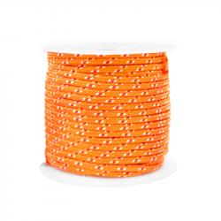 Cordon tressé 2 mm - Orange...