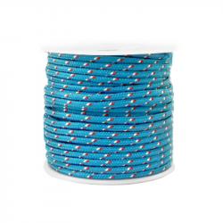 Braided cord 2 mm - Blue x 1 m
