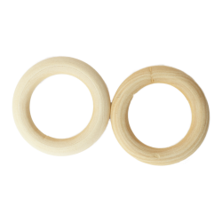 Anneaux en bois naturel 5,5 cm